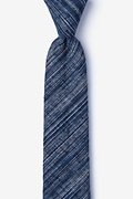 Navy Blue Cotton Bates Skinny Tie