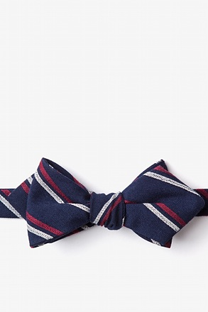 Beasley Navy Blue Diamond Tip Bow Tie