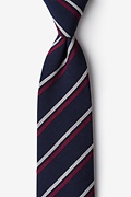 Navy Blue Cotton Beasley Extra Long Tie