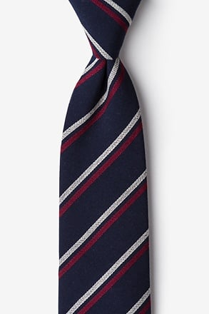 Beasley Navy Blue Extra Long Tie