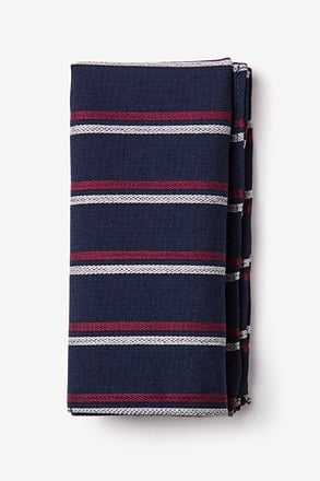 Beasley Navy Blue Pocket Square