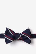 Navy Blue Cotton Beasley Self-Tie Bow Tie