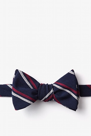 _Beasley Navy Blue Self-Tie Bow Tie_