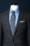 Biff Navy Blue Skinny Tie Photo (2)