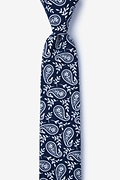 Biff Navy Blue Skinny Tie Photo (0)