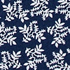 Navy Blue Cotton Brooks Floral