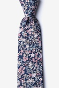 Navy Blue Cotton Campbell Extra Long Tie