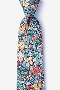 Navy Blue Cotton Canal Extra Long Tie