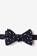 Navy Blue Cotton Carlsbad Bow Tie