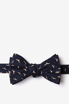 _Carlsbad Navy Blue Self-Tie Bow Tie_