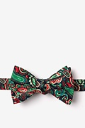 Navy Blue Cotton Carrollton Self-Tie Bow Tie