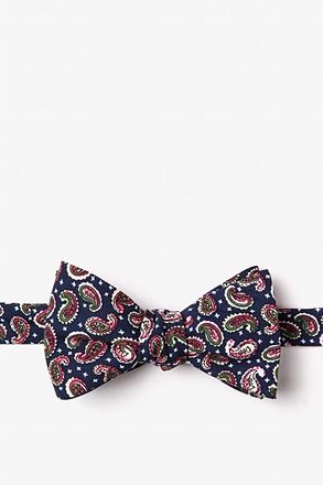 _Cedar Hill Navy Blue Self-Tie Bow Tie_