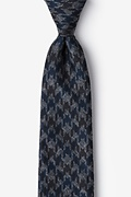 Navy Blue Cotton Chandler Extra Long Tie