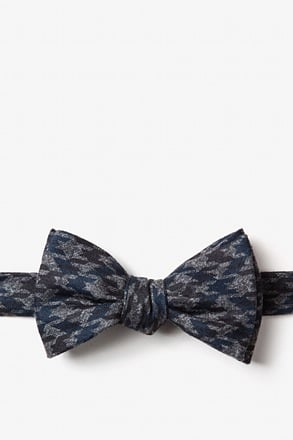 Chandler Navy Blue Self-Tie Bow Tie
