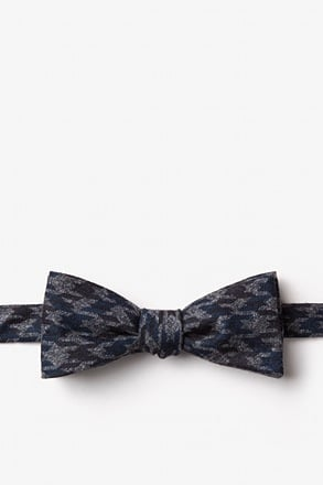 Chandler Navy Blue Skinny Bow Tie
