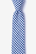 Navy Blue Cotton Chardon Skinny Tie