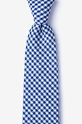 Navy Blue Cotton Chardon Tie