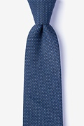 Navy Blue Cotton Chester Extra Long Tie