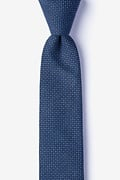 Navy Blue Cotton Chester Skinny Tie