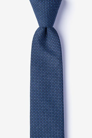 _Chester Navy Blue Skinny Tie_