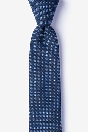 Chester Navy Blue Skinny Tie
