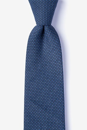 _Chester Navy Blue Tie_