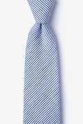 Navy Blue Cotton Cheviot Extra Long Tie