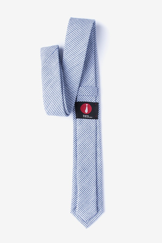Cheviot Navy Blue Skinny Tie Photo (1)
