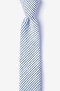 Navy Blue Cotton Cheviot Skinny Tie