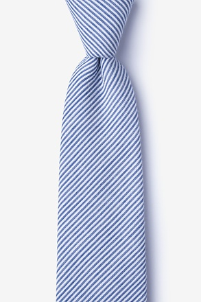 _Cheviot Navy Blue Tie_