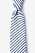 Navy Blue Cotton Clyde Extra Long Tie