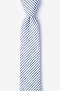 Navy Blue Cotton Clyde Skinny Tie