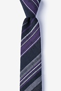 Navy Blue Cotton Cortland Skinny Tie