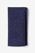 Navy Blue Cotton Denver Pocket Square