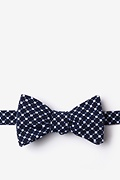 Navy Blue Cotton Descanso Self-Tie Bow Tie