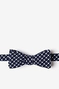 Navy Blue Cotton Descanso Skinny Bow Tie