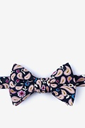 Navy Blue Cotton Diesel Self-Tie Bow Tie