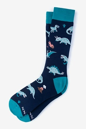 Dinosaur Navy Blue Sock