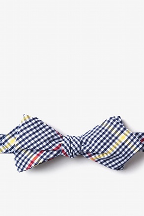 Douglas Navy Blue Diamond Tip Bow Tie