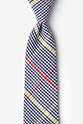 Navy Blue Cotton Douglas Extra Long Tie