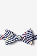 Navy Blue Cotton Douglas Self-Tie Bow Tie