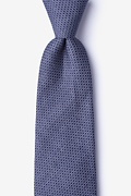 Navy Blue Cotton Dudley Extra Long Tie