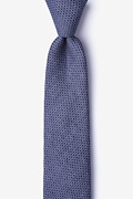 Navy Blue Cotton Dudley Skinny Tie