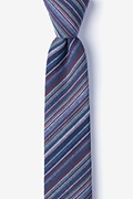 Navy Blue Cotton Eastlake Skinny Tie