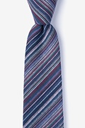 Navy Blue Cotton Eastlake Tie