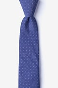 Navy Blue Cotton Echo Skinny Tie