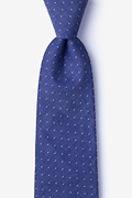 Navy Blue Cotton Echo Tie