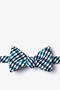 Navy Blue Cotton Encinitas Butterfly Bow Tie
