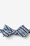 Navy Blue Cotton Encinitas Diamond Tip Bow Tie