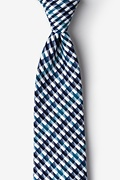 Navy Blue Cotton Encinitas Extra Long Tie